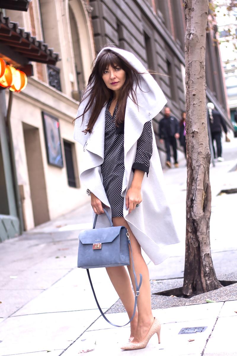 Sleeveless coat and dress