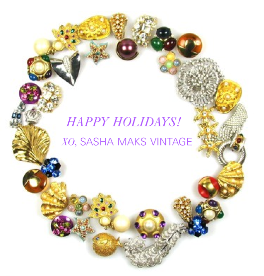 Happy Holidays from Sasha Maks Vintage!