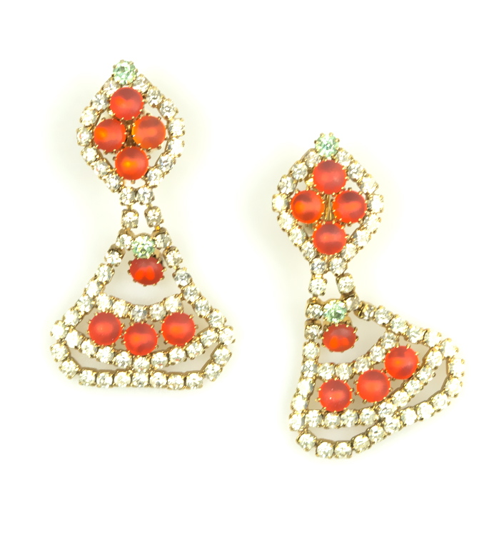 Rhnestone drop earrings