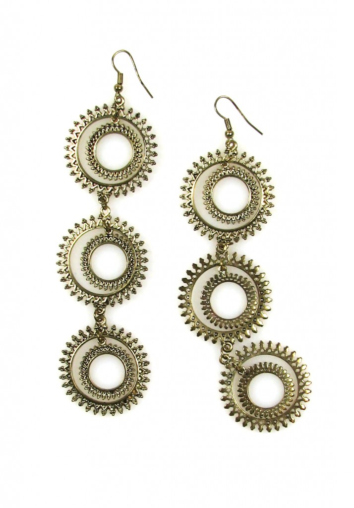 Sasha Maks Vintage Long Link Earrings