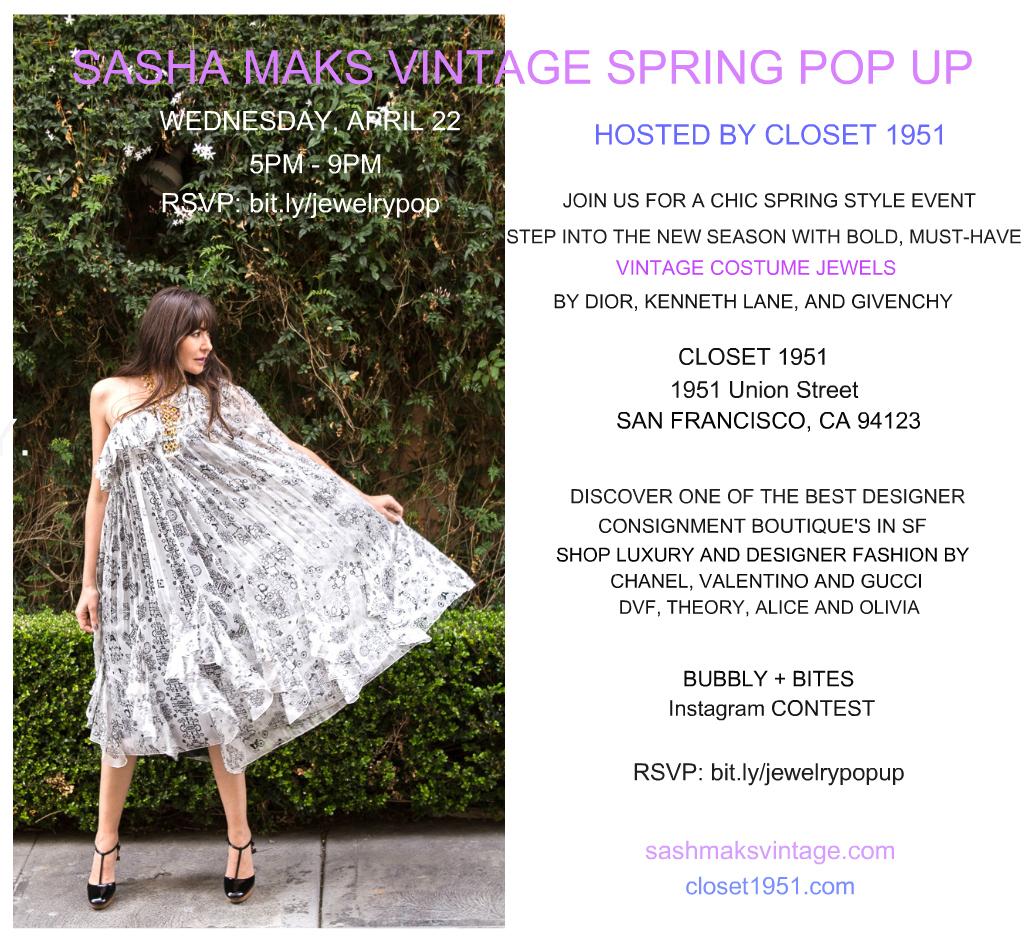 Sasha Maks Vintage Spring Pop Up
