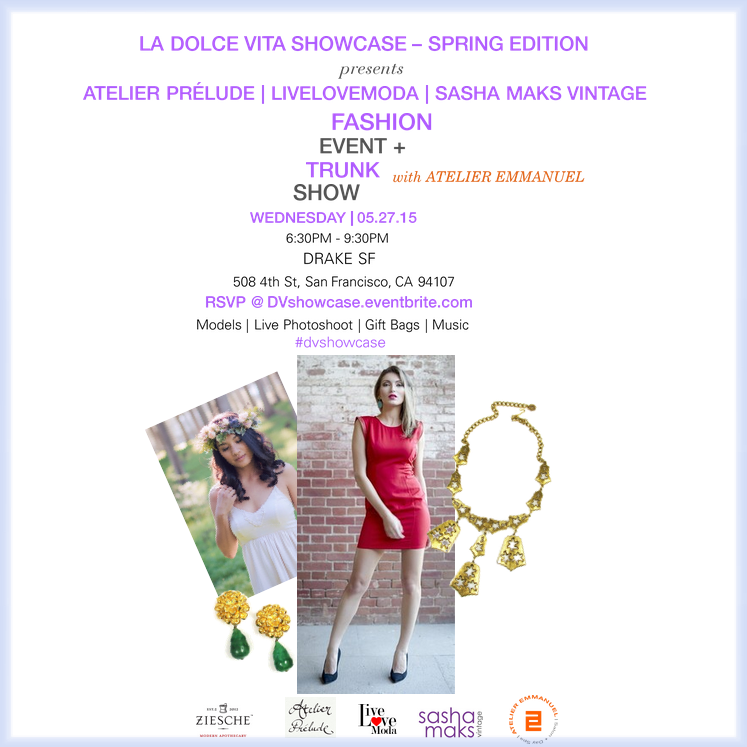 Fashion Event and Trunk Show May 27th, 2015