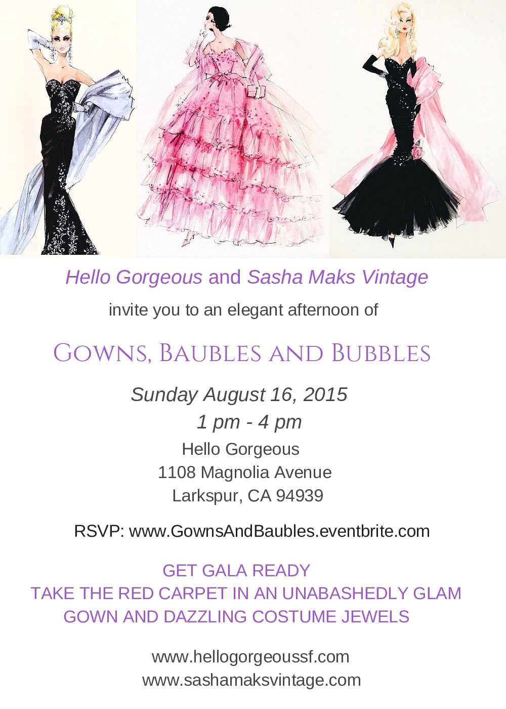 Gowns, Baubles and Bubbly Trunk Show