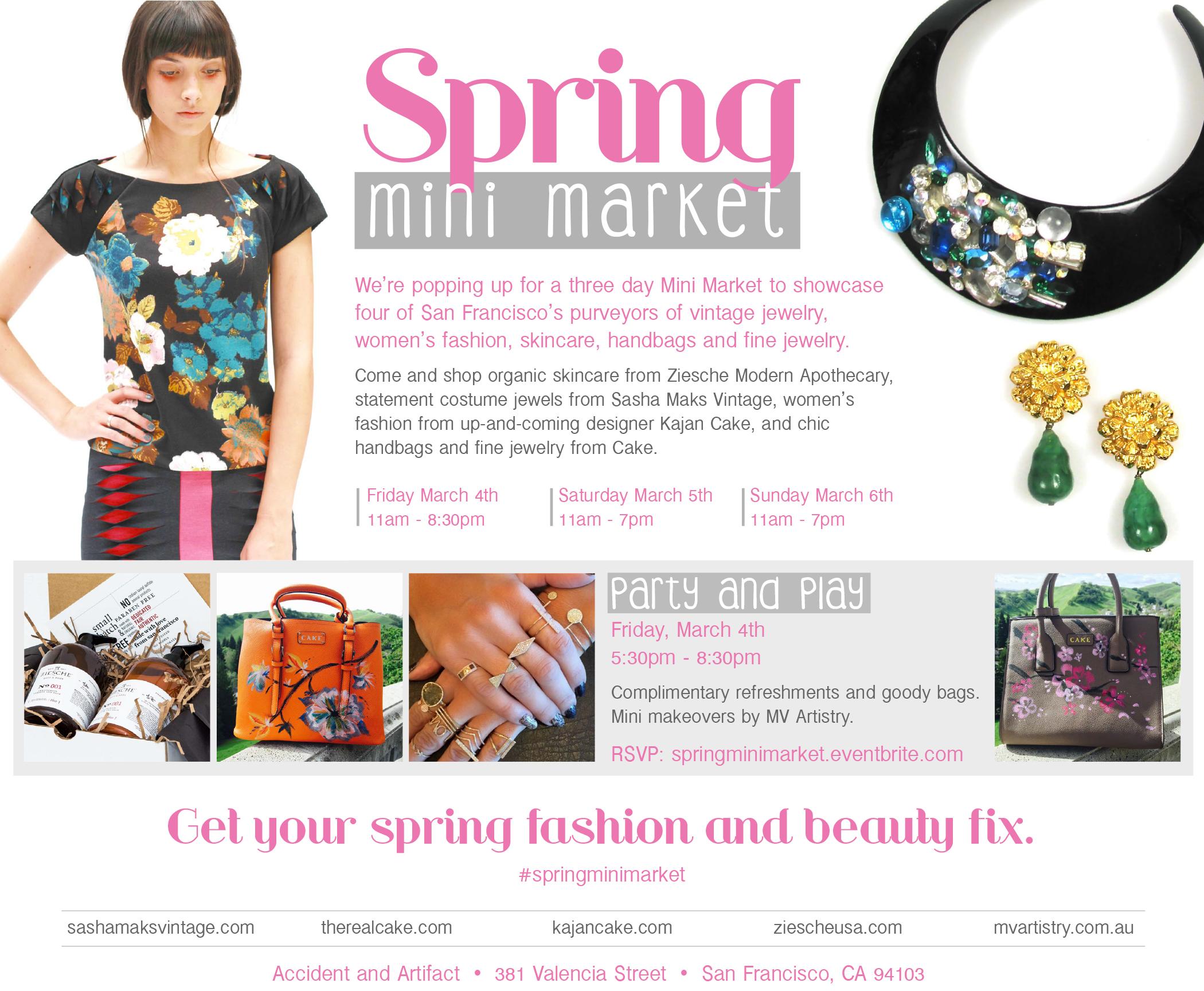 Spring Mini Market invite