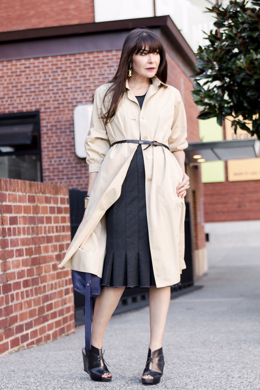 Courreges duster and Kajan Cake dress