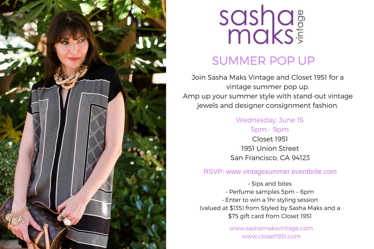 SASHA MAKS VINTAGE SUMMER POP UP