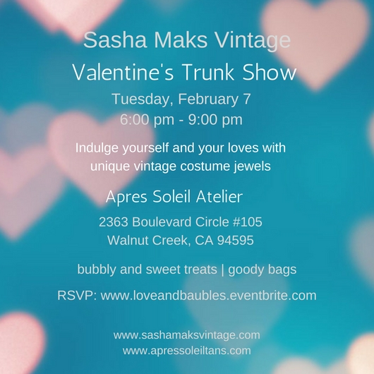 Sasha Maks Vintage Valentine's Trunk Show