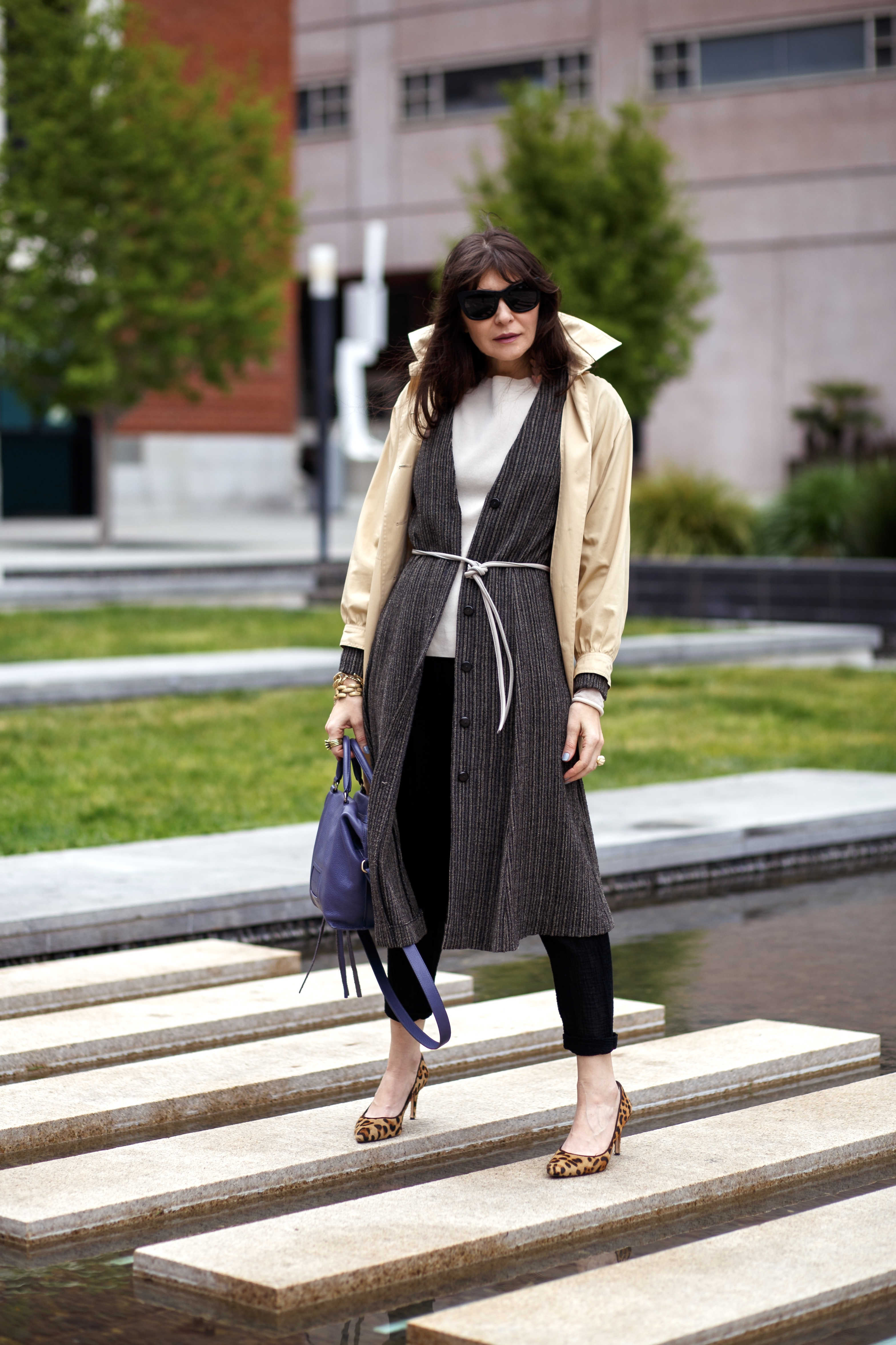 How to layer two coats for spring.