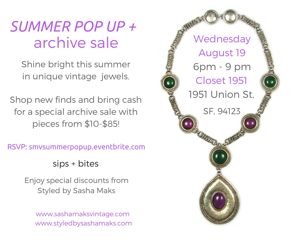 Summer Pop Up + archive sale email