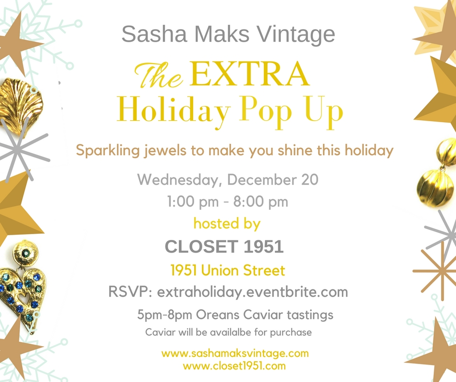 The Extra Holiday Pop Up