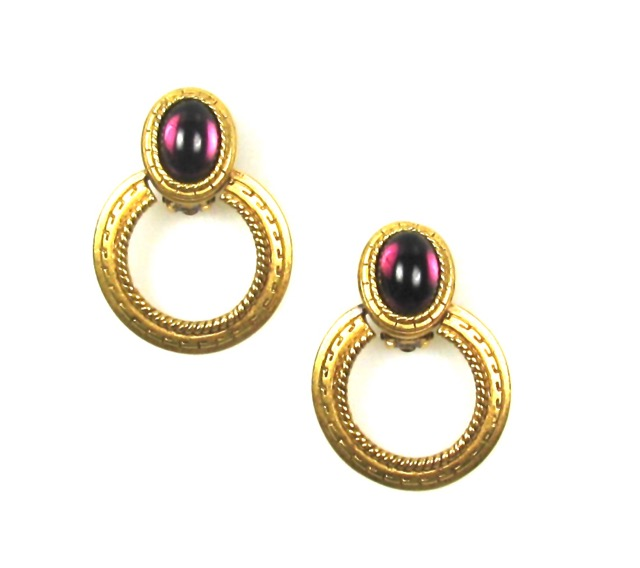 Oscar de la Renta Door Knocker Earrings 1980s