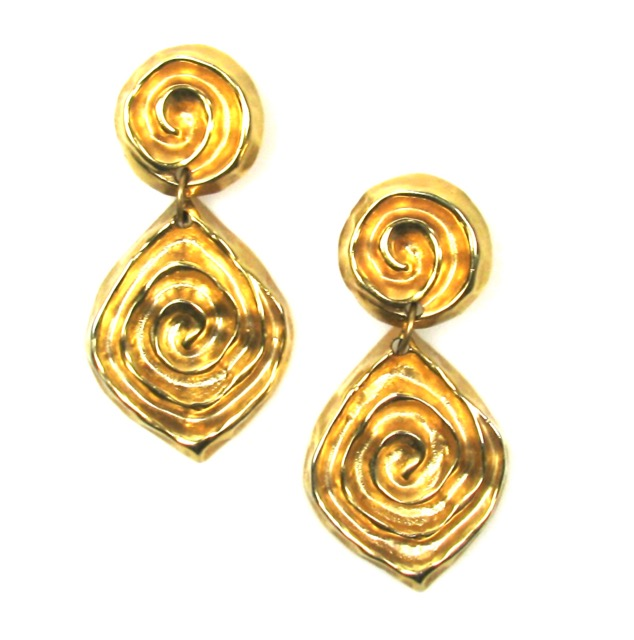 Swirl Drop Earrings 1980s