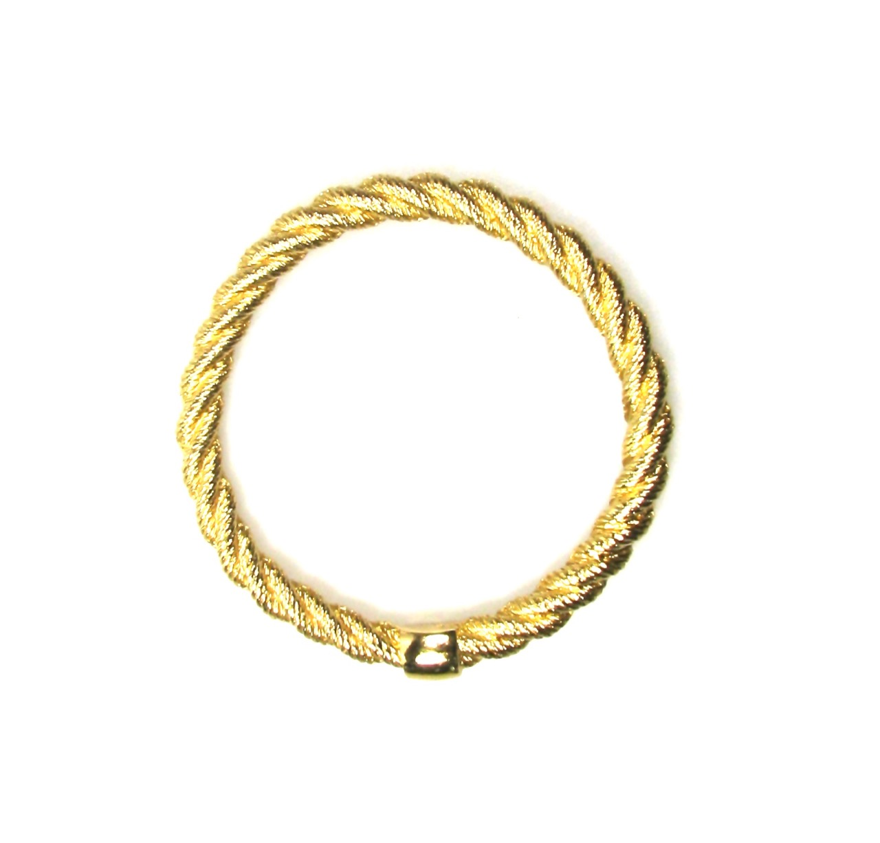 Christian Dior Rope Twist Bangle 1980s