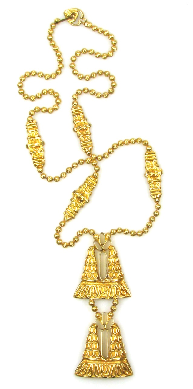 Kenneth Jay Lane Boho Pendant Necklace 1970s