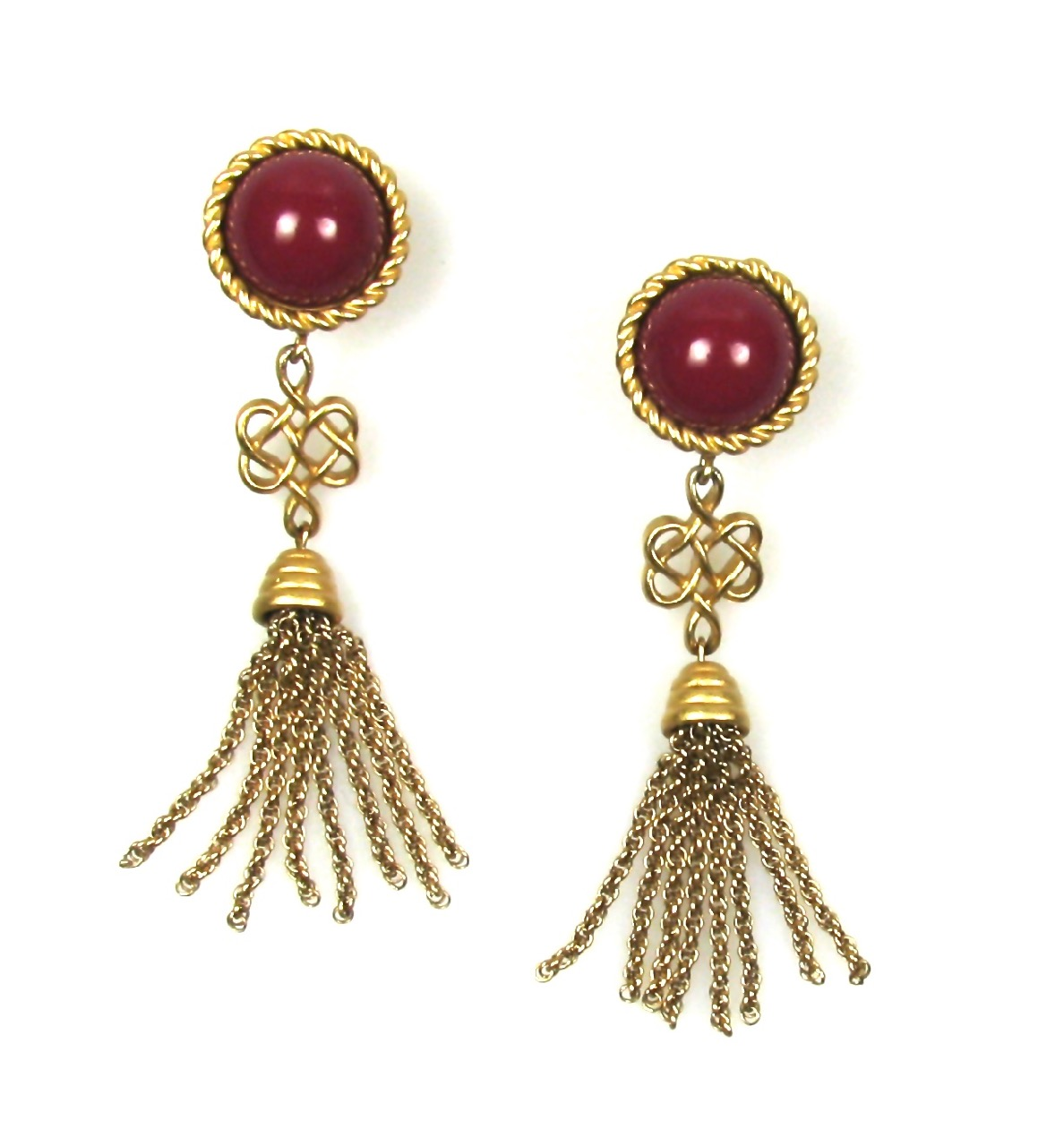 Monet Tassel Earrings 1980s
