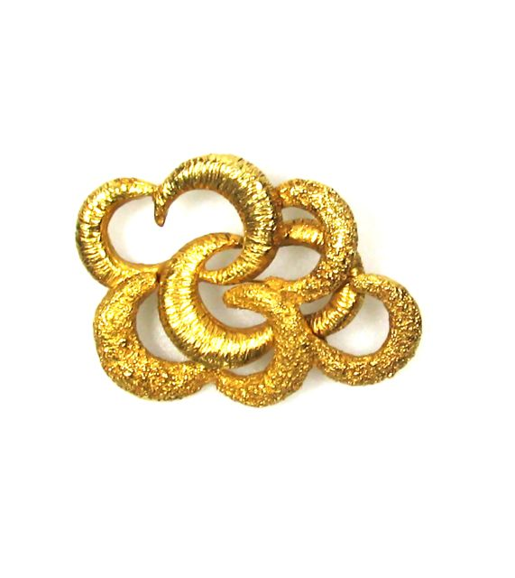 Gold-Tone Arabesque Brooch 1960s