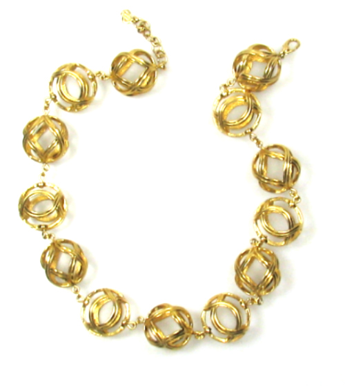 Christian Dior Ball Link Necklace 1980s