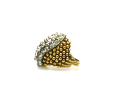 Florenza Rhinestone Cocktail Ring 1970s