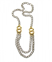 Two-Tone Chunky Chain Necklace 1980s