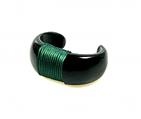 Sculptural Wrapped Cuff Bracelet 1980s