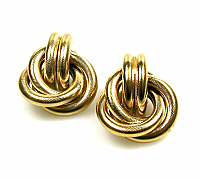 Givenchy Golden Knot Earrings 1980