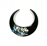 Angela Caputi Lucite Collar with Rhinestone Embellishment 1980s