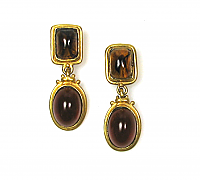 Faux Amber Drop Earrings 1980s