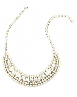 Glam Rhinestone Necklace 1960s