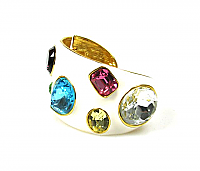 "Kenneth Lane Enamel and Rhinestone ""Diana Vreeland"" Cuff"