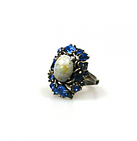 Hollycraft Flower Motif Ring 1950s