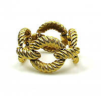 Statement Rope Link Bracelet 1980s