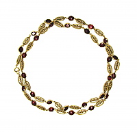 Ruby Red Long Chain Necklace 1970s