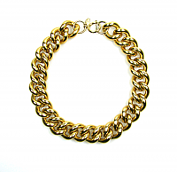 Erwin Pearl Chunky Chain Necklace 1980s