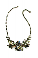 Edlee Rhinestone Flower Motif Necklace 1950s