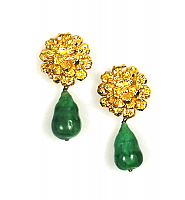 P�te de Verre Drop Earrings 1960s