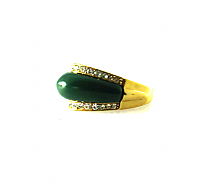Faux Jade Cocktail Ring 1960s